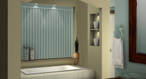 Gray 3 1/2 vertical blind