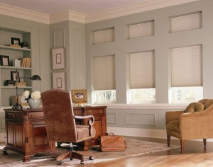 Office with the fresh look of honeycomb shades