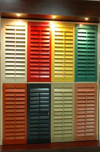 color wood shutters