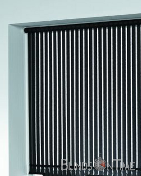 Black stripped roller shade