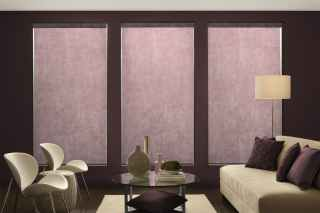 Roller Shades with flower border