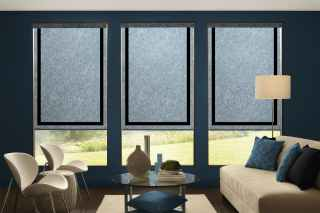 Roller Shades with solid border