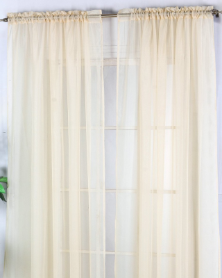 BlindsOnTime Drapery Sheer Rod Pocket Panels