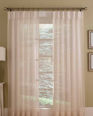 BlindsOnTime Drapery Sheer Pleated Panels