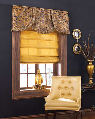 BlindsOnTime Drapery Board Attached Valance Elegance